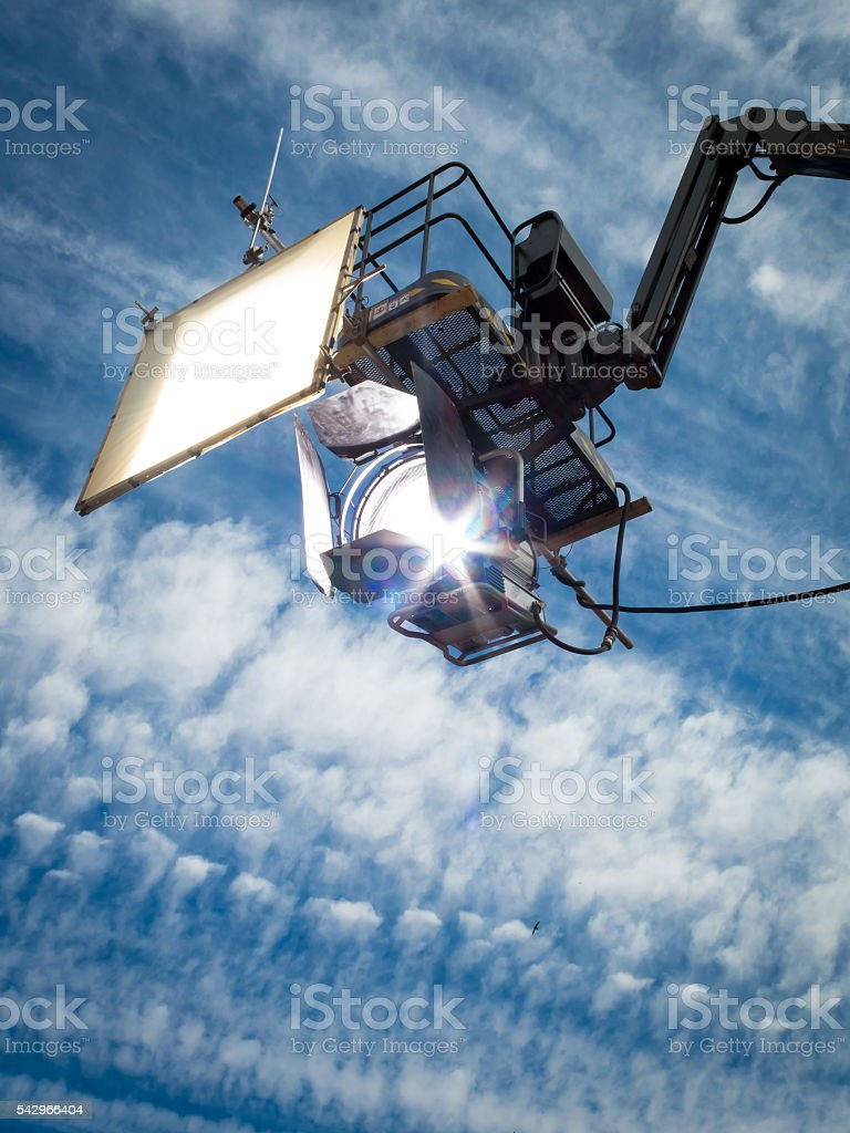 HMI daylight projector hanging  II stock photo