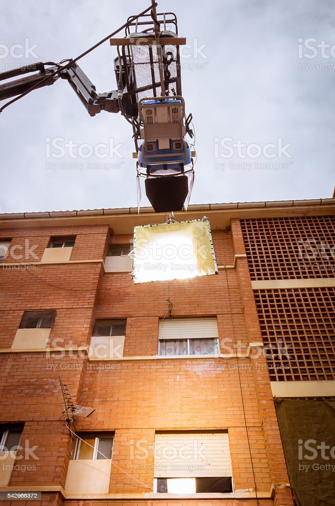 HMI daylight projector hanging  III stock photo