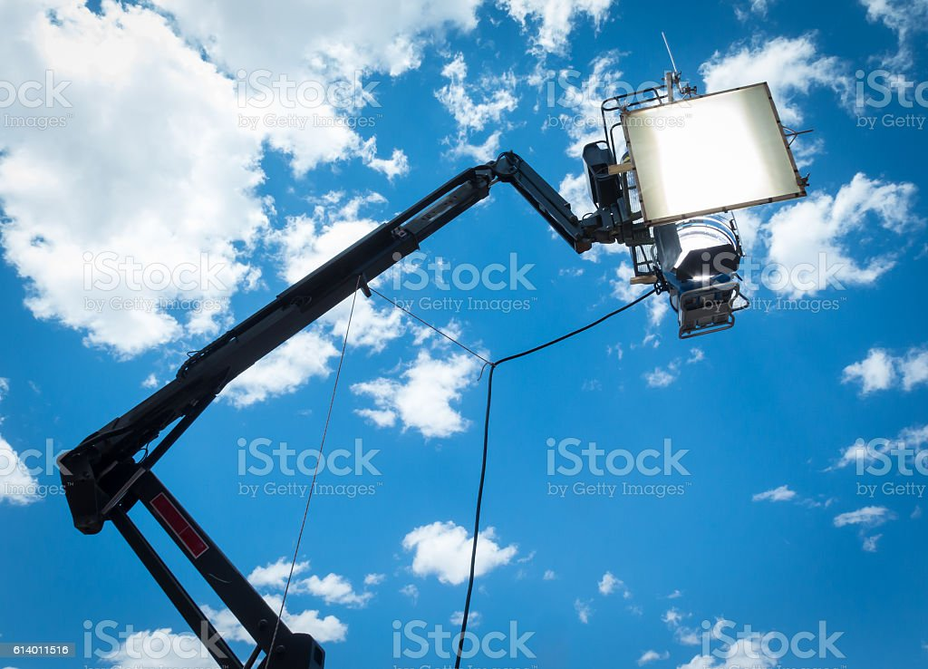 HMI daylight projector hanging stock photo