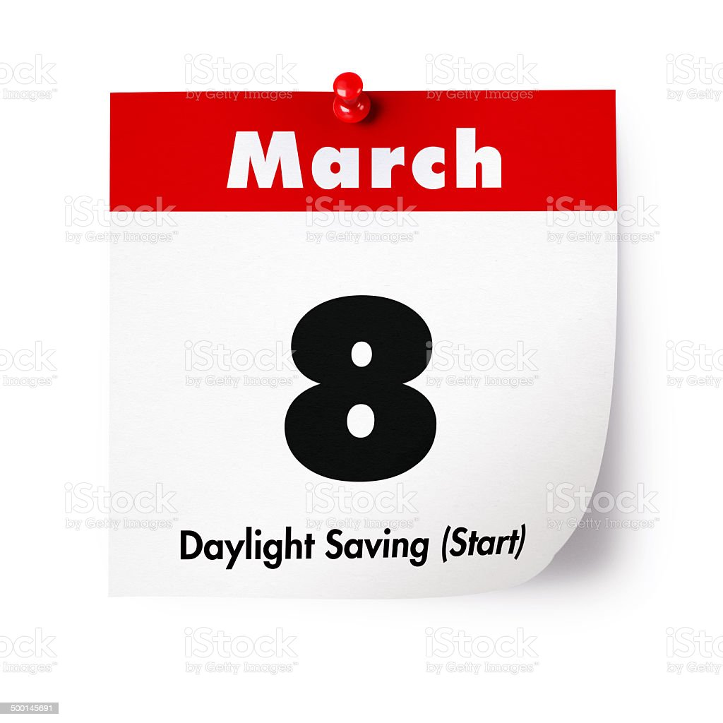 Daylight Saving (Start) in 2015 stock photo