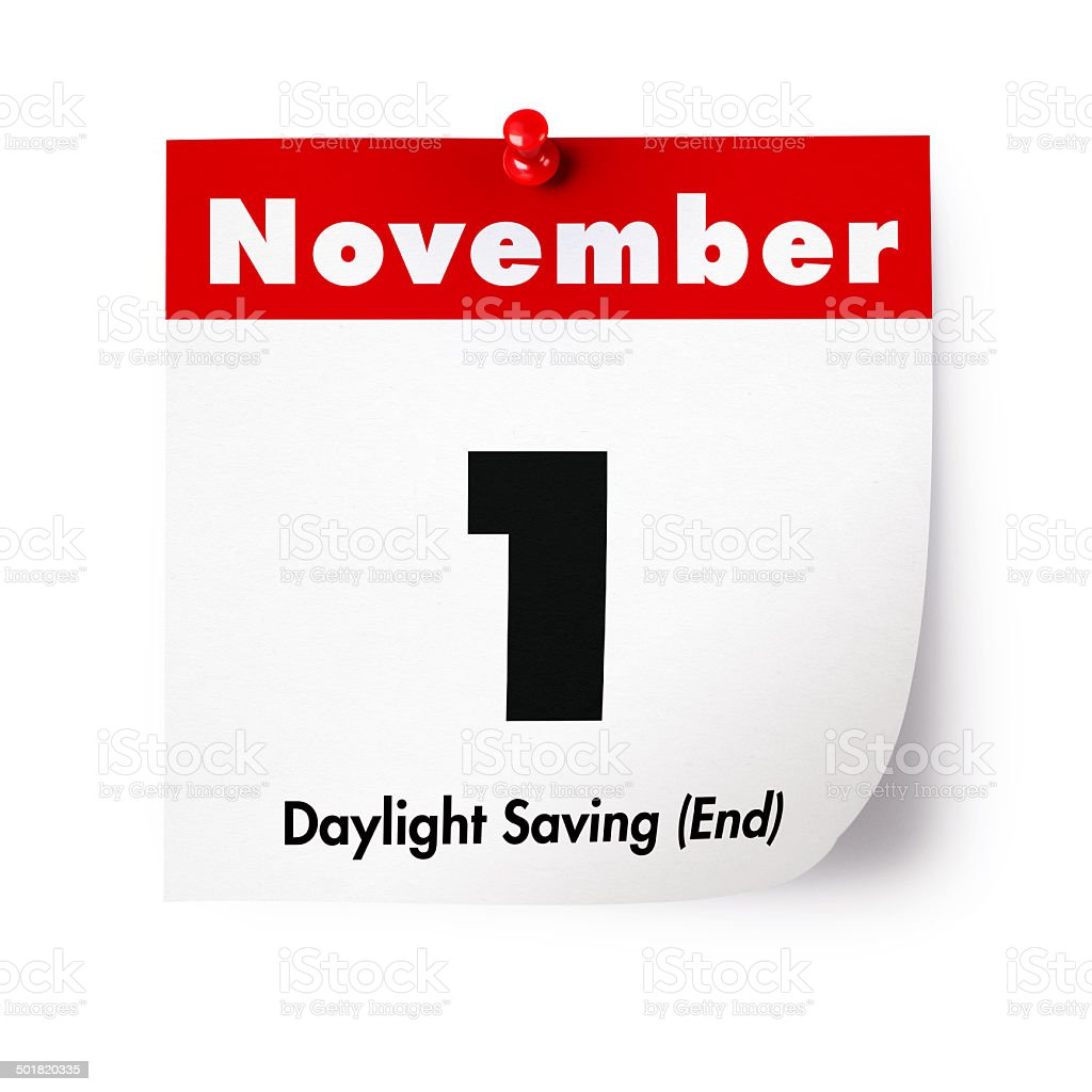 Daylight Saving (End) in 2015 stock photo