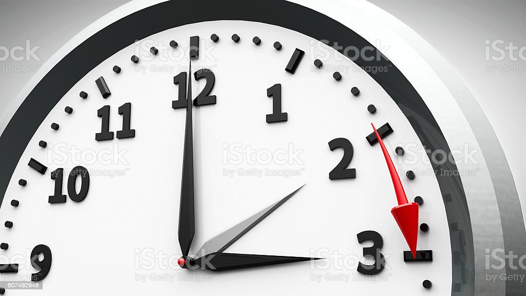 Daylight saving time begins stock photo