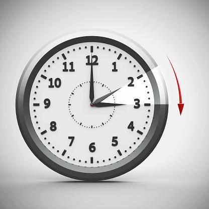 istock Daylight saving time begins #2 925489088