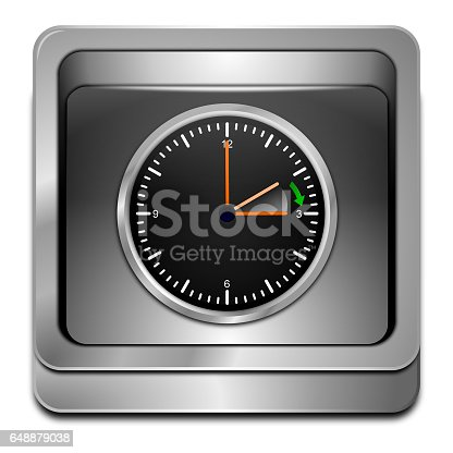istock Daylight saving time button - 3D illustration 648879038