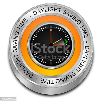 istock Daylight saving time button - 3D illustration 652299652