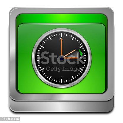 istock Daylight saving time button - 3D illustration 922834110