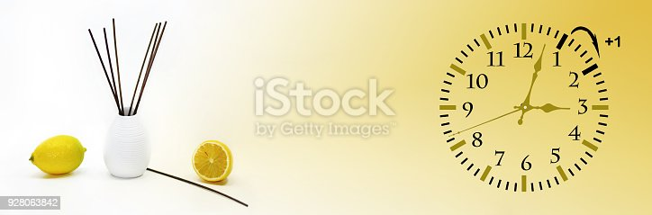 istock Daylight Saving Time. DST. Wall Clock going to winter time. 928063842
