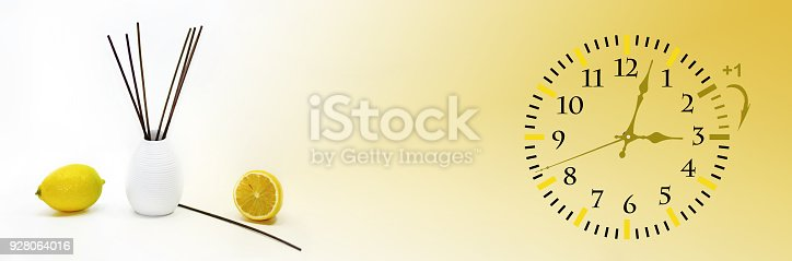 istock Daylight Saving Time. DST. Wall Clock going to winter time. 928064016