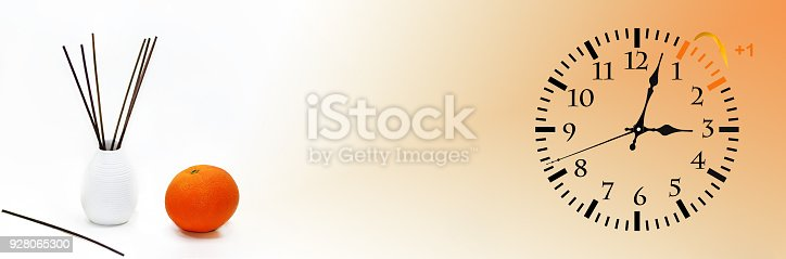 istock Daylight Saving Time. DST. Wall Clock going to winter time. 928065300