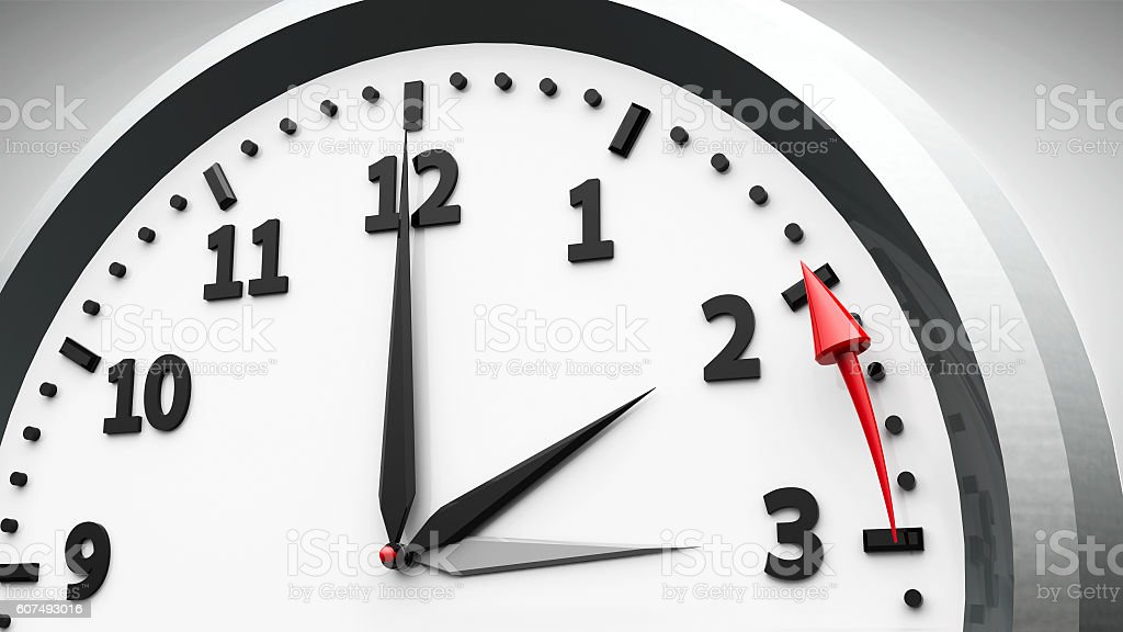 Daylight saving time ends stock photo
