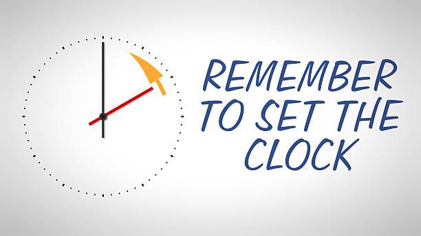 daylight saving time stock photo