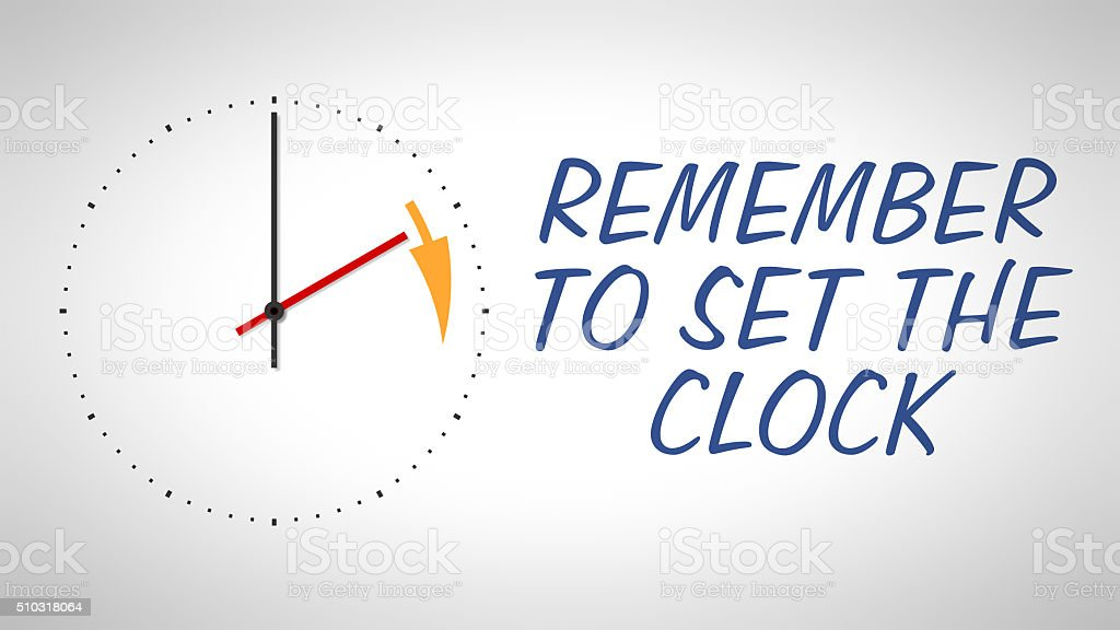 daylight saving time stock photo