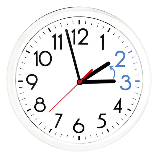 Daylight Saving Time. Daylight Saving Time. Wall Clock going to winter time clock hand stock pictures, royalty-free photos & images