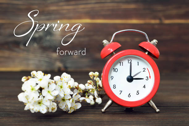 Daylight Saving Time, Spring forward, Summer Time change Daylight Saving Time, Spring forward, Summer Time change springtime stock pictures, royalty-free photos & images