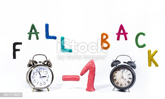 istock Daylight Saving Time. Wall Clock going to winter time. Autumn abstraction. 1041215322