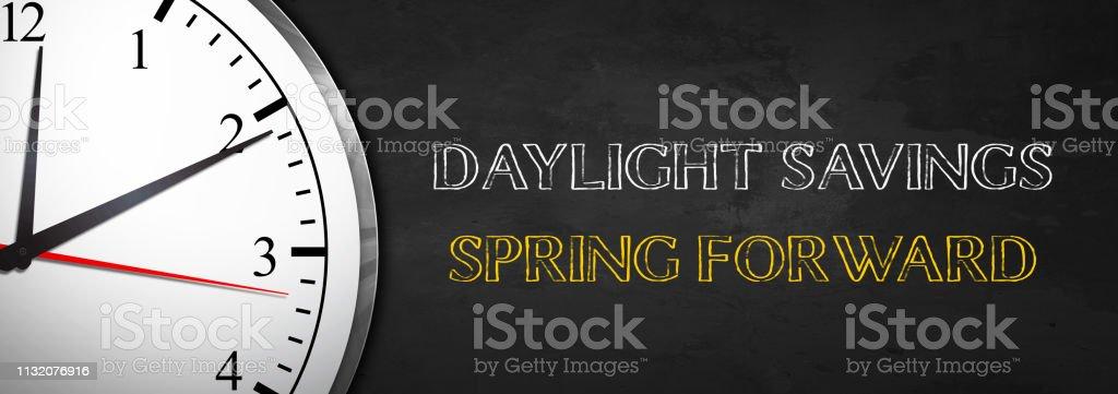 Daylight Savings - Spring Forward royalty-free stock photo