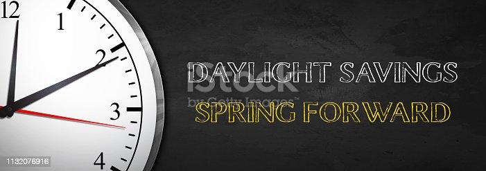 Daylight Savings concept with Clock