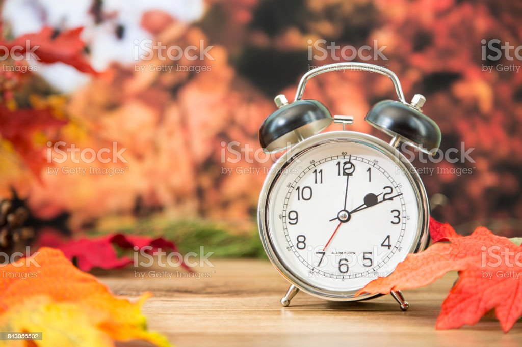 It\'s daylight savings time. The alarm clock is set for 2 o\'clock am...
