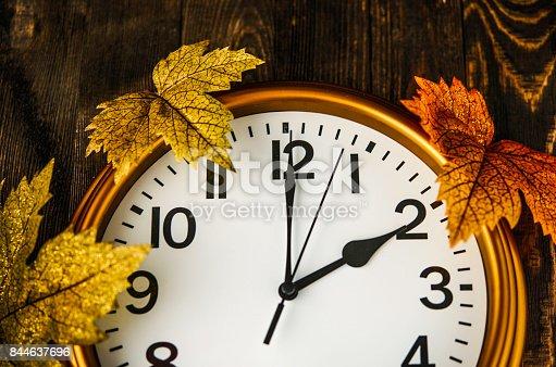istock Daylight savings time. Clocks fall back in Autumn 844637696