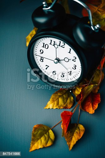 istock Daylight savings time clocks fall back in Autumn 847541666