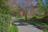 A bright sunny day in Deep Cut Gardens in Monmouth County New Jersey.