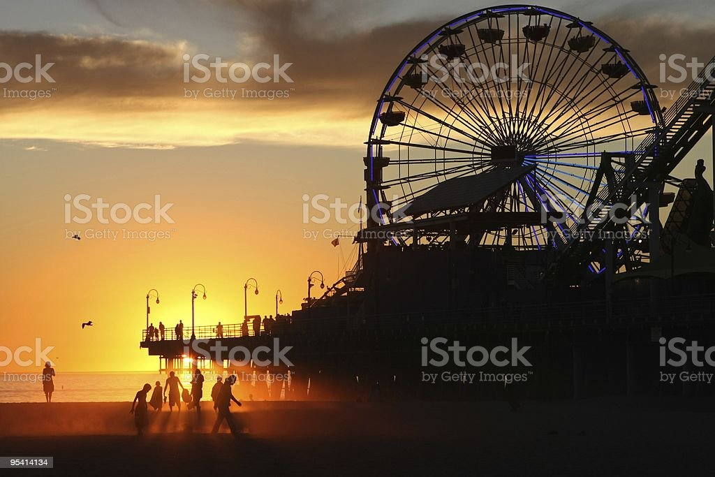 Day's end at the pier royalty-free stock photo