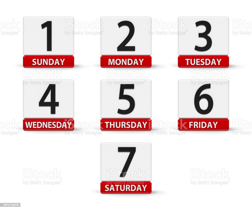 Days of the week #2 stock photo