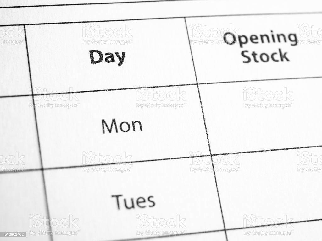 Days stock photo