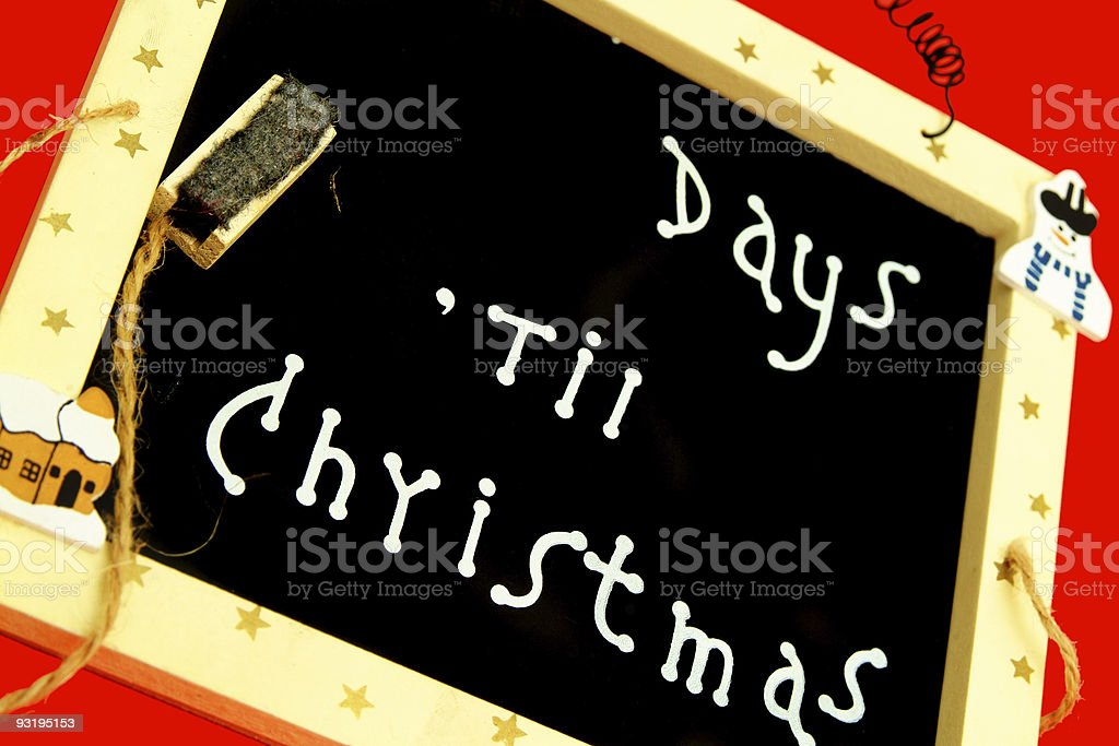 Days 'Til Christmas? royalty-free stock photo
