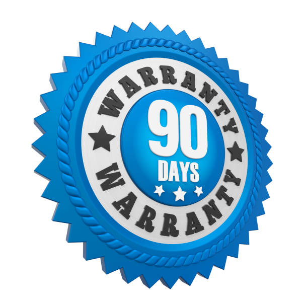 90 days warranty badge isolated - number 90 stock photos and pictures