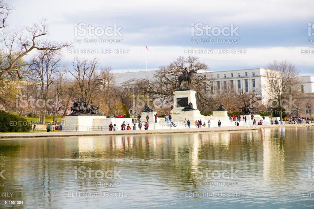Daytime Landscape US Capitol Building Washington DC stock photo