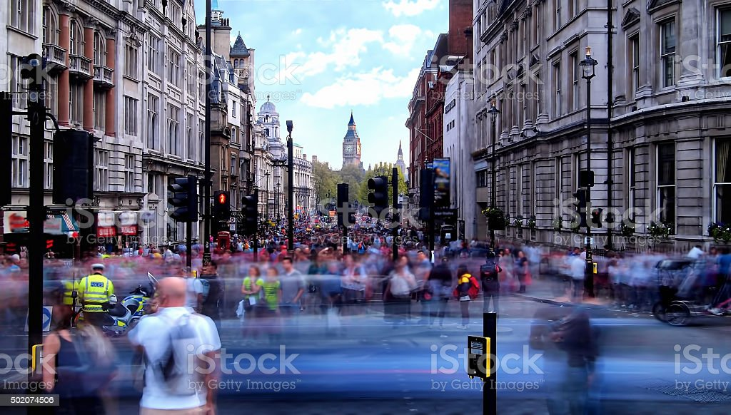 Daytime long exposure towards Whitehall stock photo