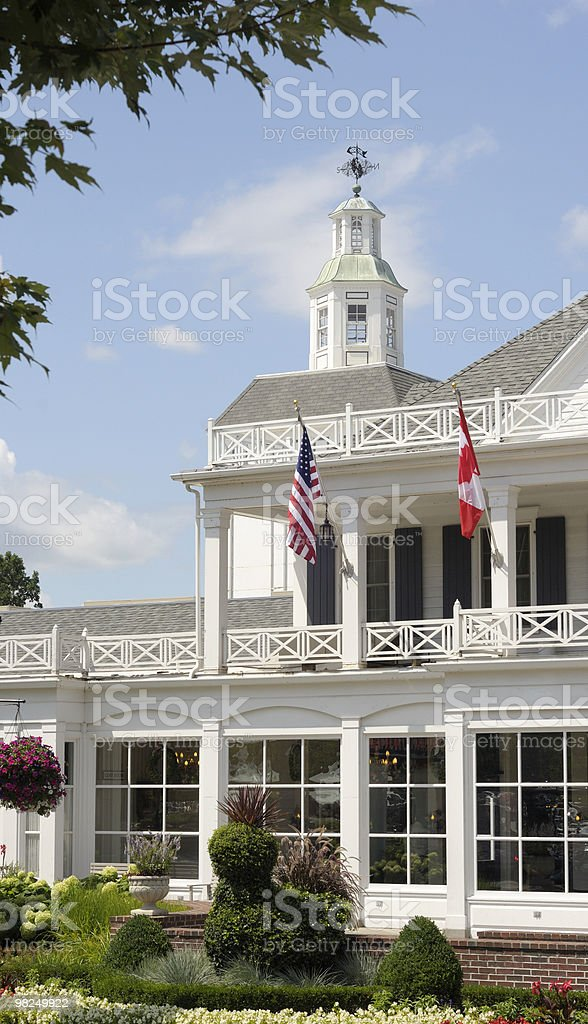 Daytime view of a white house in Frankenmuth, Michigan. royalty-free stock photo