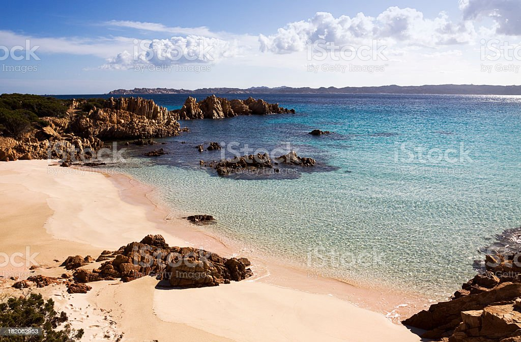 Blick von der Insel Budelli, Sardinien – Foto