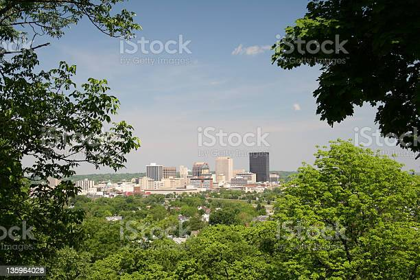 Dayton Cityscape Skyline 1 Dayton Ohio Stock Photo - Download Image Now