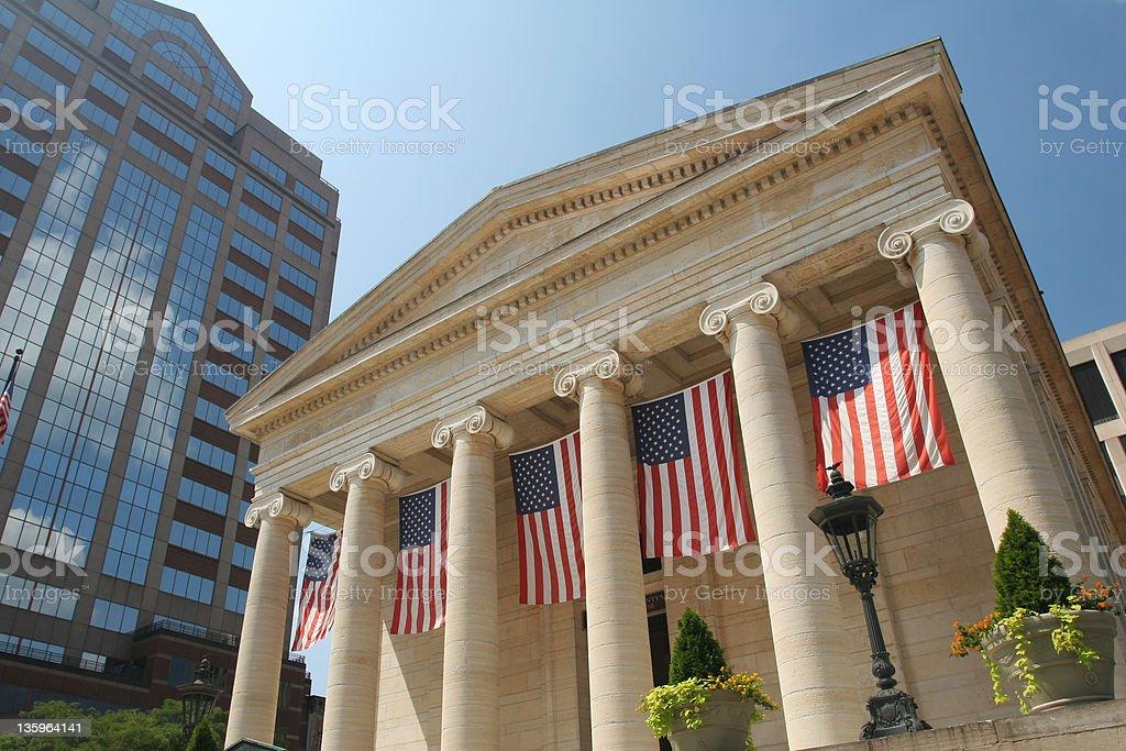 Dayton Courthouse Flags, Dayton, Ohio royalty-free stock photo