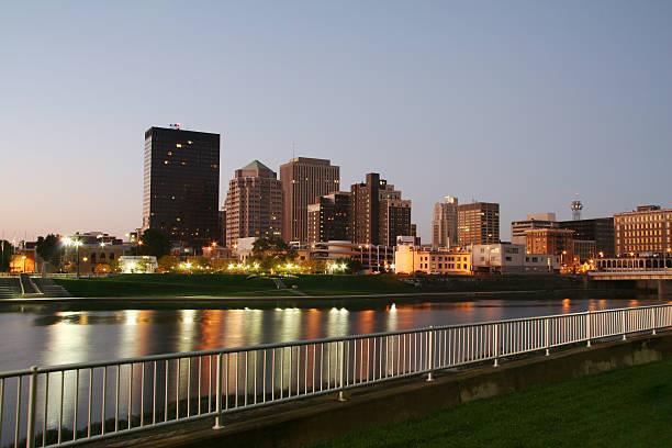 Dayton Morning Cityscape Skyline stock photo