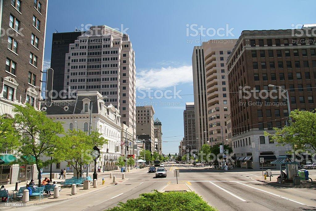 Dayton Ohio Main Street royalty-free stock photo