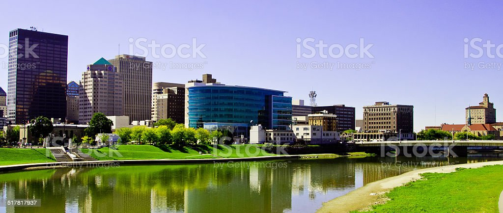 Dayton Ohio Skyline stock photo