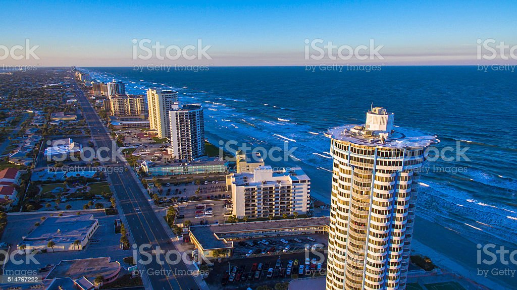 Daytona Beach aerial photograph stock photo