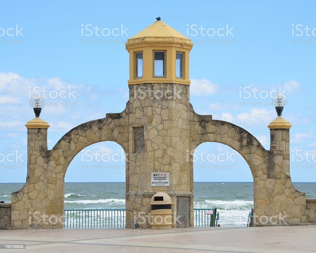 Daytona Beach Bandshell Entrance stock photo