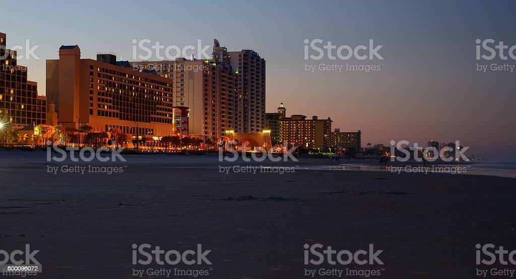 Daytona Beach by sunset,Florida,USA stock photo