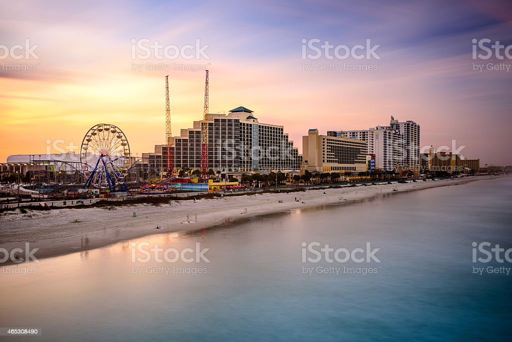 Daytona Beach Florida Beachfront stock photo