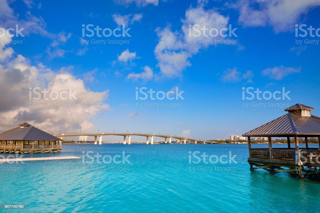 Daytona Beach Halifax river in Florida cabin stock photo