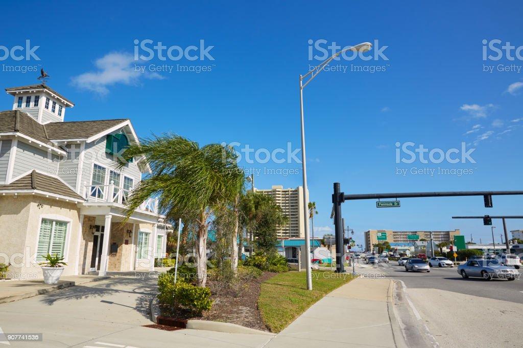 Daytona Beach in Florida at Port Orange USA stock photo
