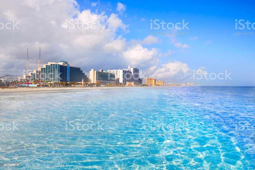 Daytona Beach in Florida coastline USA stock photo