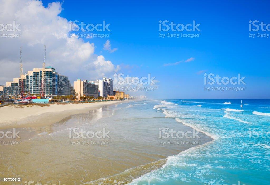Daytona Beach in Florida coastline USA stock photo