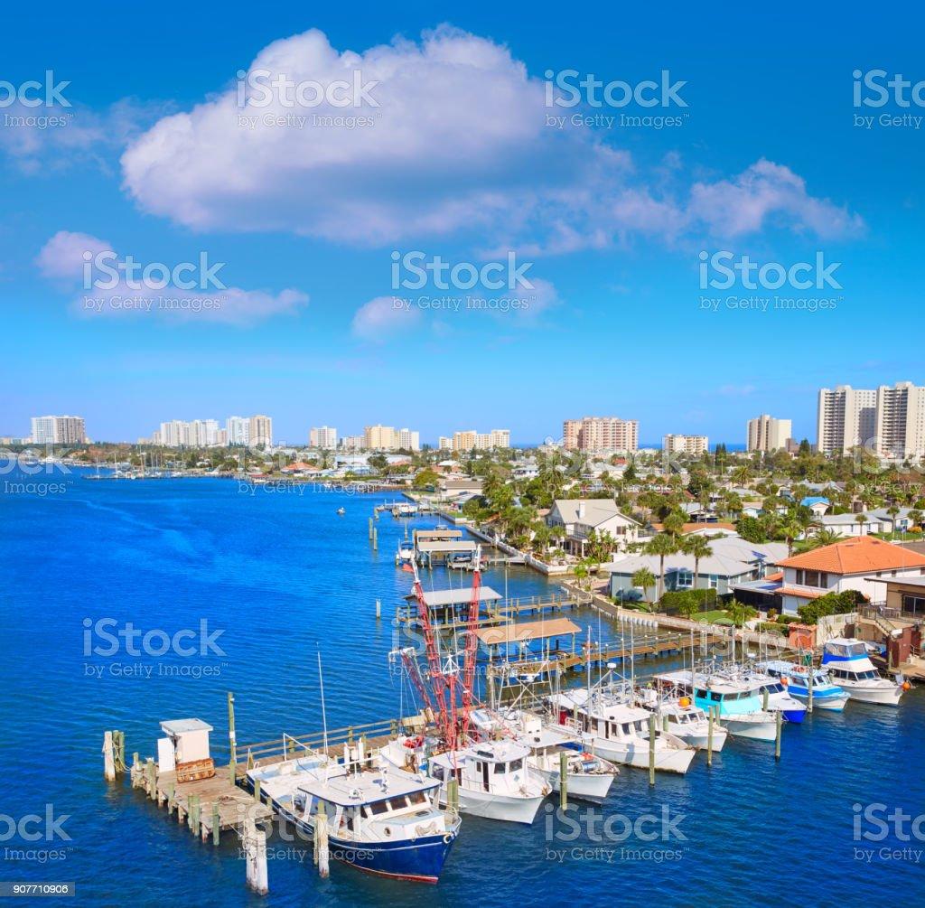 Daytona Beach in Florida from Port Orange US stock photo