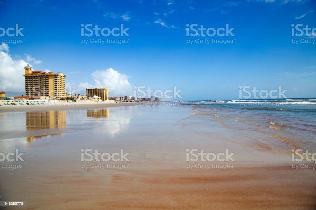 Daytona Beach In The Morning stock photo