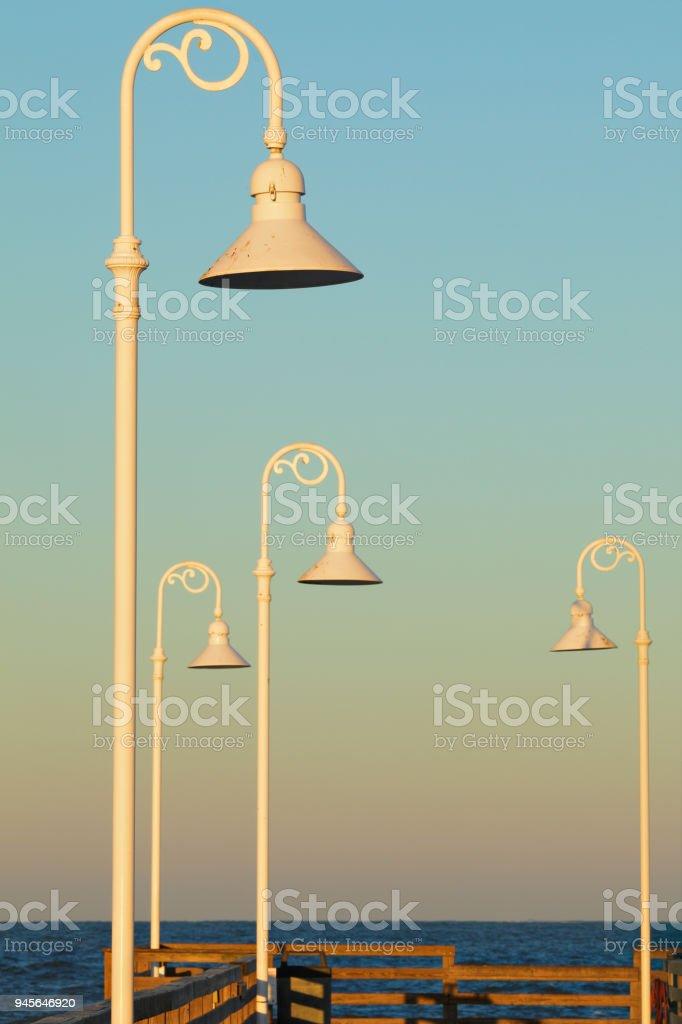 Daytona Beach Pier Lights - Florida stock photo